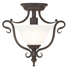 Coronado Livex 1 Light Bronze Semi Flush Ceiling Mount Fixture Sale Lamp 6186-07