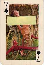 7 SETTE di Picche Gaiety Brand 54 Nude Models Color  Playing Cards 1960's