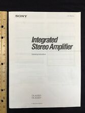 Sony TA-AV501 Stereo Integrated Amp Original Owners Manual 18 Pages taav501 601