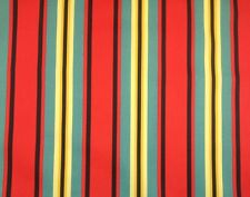 MILL CREEK TRUDY POPPY STRIPE RED YELLOW OUTDOOR FURNITURE FABRIC BY THE YARD