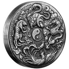 2016 $2 Chinese Ancient Mythical Creatures 2oz Silver Proof High Relief Coin