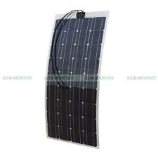 ECO 100W SemiFlexible Solar Panel for Motorhome Boat Car Thin Light Solar System