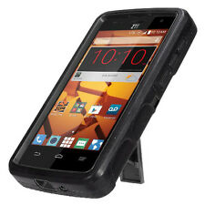 For ZTE N817 Black Heavy Duty Stand Phone Cases