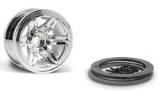 Axial AX8092 2.2 Rockster Beadlocks Wheel (Chrome) (2) Wraith,AX10