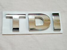 TDI Chrome Rear Emblem Decal Badge For Audi VW Passat Bora Golf Jetta Car Boot
