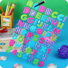 3-PACK Multi-Colored Puffy Stickers, Alphabet Letters and Numbers Pink Purple