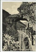 strada dello spluga galleria stuz con auto d' epoca provincia di sondrio 1955