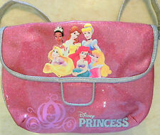 disney park discontinued classic princess pink glitter girls handbag bag purse
