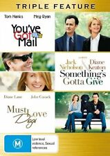 Must Love Dogs  / Something's Gotta Give  / You've Got Mail (DVD, 2007, 3-Disc …