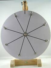 "12""YDL® Tabletop White Dry Erase Fortune Prize Wheel 8 Slots Wood Stand Spinning"