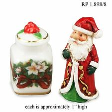 Santa Cookie Jar Set Dollhouse Miniature Reutter Porcelain 1:12 scale