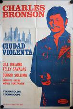 Brutale Stadt Città violenta Filmposter ARGENTINIEN Charles Bronson Savalas
