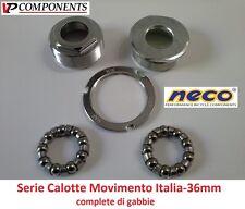 0105 Serie Calotte Movimento Centrale Italia-36mm per bici 26-28 Fixed Scatto Fi