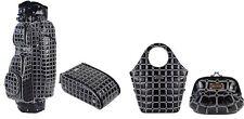 Moda Marisa Set Golf Sports Cart Shoe Bag Small Shopper Bag Clutch Bag Platinum