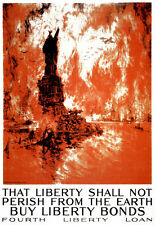 1917 That liberty shall not perish from the earth Fourth Loan War  Print  Poster
