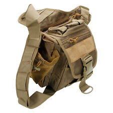 Military Tactical MOLLE Side Sling Backpack Camping Hiking Hunting Mud Color New