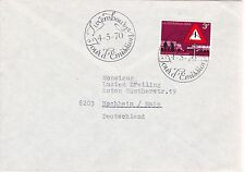 First day cover, Luxembourg, Scott #488, traffic safety, 1970