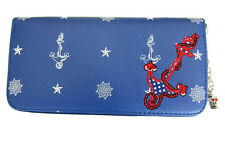 Banned Anchor Nautical Sailor 50s Rockabilly Faux Leather Wallet Purse Blue