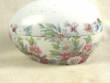 Vintage FM Limoges France Egg Form Trinket Box