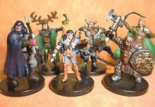 Dungeons & Dragons Miniatures Lot  Player Character Party Experienced !!  s108