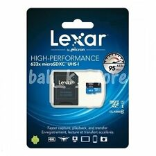 Lexar 32GB 32G 633x 95MB/s Micro SD SDHC Class10 UHS-I SD Adapter for GoPro
