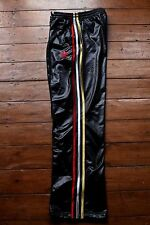 Adidas Chile62 Tracksuit Pants. Shiny Black / Multi-colour 3 strips. Unisex S