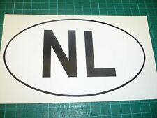 NETHERLANDS Oval Car Vehicle Sticker