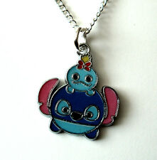 Lilo and stitch necklace silver plated chain 18 inch stitch and scrump tsum tsum