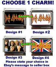 Def Leppard Logo #1 Custom Italian Charm Hysteria sharp Band Photo! British Flag