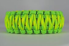 550 Paracord Survival Bracelet King Cobra Lime/Yellow/Dayglow Camping Tactical