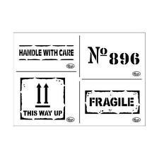 Viva Decor Universal Stencil A4 - Fragile #742