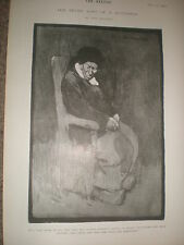 The Seven Ages of a Dutchman The last scene of all Tom Browne 1902 print ref Z