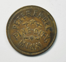 Peter Engel 5c Trade Token Pine City Minnesota 24mm Copper Furniture Store Rare