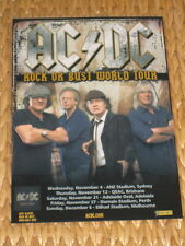 AC/DC -  AUSTRALIAN TOUR 2015 -  LAMINATED POSTER - Perfect To Frame