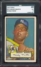 1952 Topps #311 Mickey Mantle First Topps Card! SGC 40+