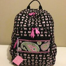 NWT Vera Bradley Large Campus Backpack in Pink Elephants Limited Edition!