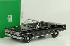 1967 plymouth belvedere GTX convertilble Black Noir Artisan 1:18 Greenlight
