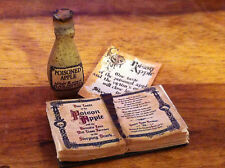 DOLLS HOUSE WITCH BOOK & STONE BOTTLE