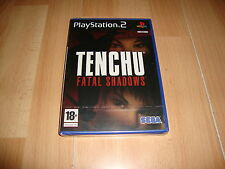 TENCHU FATAL SHADOWS DE SEGA PARA LA SONY PLAY STATION 2 PS2 NUEVO PRECINTADO