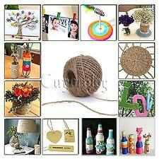 50M Twisted Burlap Natural Fiber Jute Twine Rope Cord String Craft Ribbon Gift