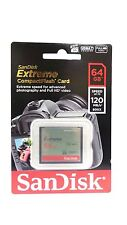 SANDISK EXTREME CF 64GB COMPACT FLASH Memory Card HD VIDEO 120MB/s* UDMA 7