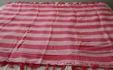 Victoria's Secret Limited Edition Pink Stripe Beach Blanket,  50 in x 60 in