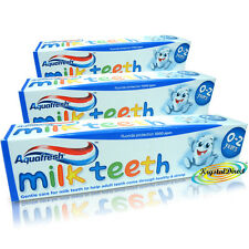 3 Aquafresh 0 Years+ MILK TEETH Baby Toothpaste 50ml