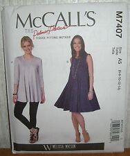 Womens/Misses Flared Tops & Dresses Sewing Pattern/McCall's M7407/SZ 6-14/UCN