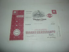Very Neat 1969 Western Union Telegraph Company Stock Certificate