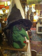 Vintage CreepyWitch's Head Scary Haunted House Halloween stage  Prop Hand made
