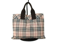 Authentic BURBERRY LONDON BLUE LABEL Nylon Canvas Pinks Tote Bag BT0180