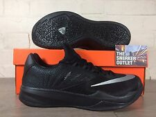 Men's Nike Zoom The un tamaño de Reino Unido 9 Run entrenadores Triple Negro Zapatos Kobe Lebron