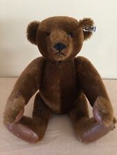Steiff - Margaret Strong 42cm Chocolate Mohair Teddy Bear W/ Leather Paws
