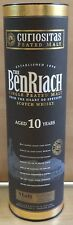 VHTF COLLECTIBLE THE BENRIACH 10 YEARS OLD HARD PAPER CASE  ''NO ALCOHOL''